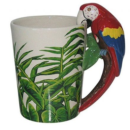 Parrot Shaped Handle Mug with Safari Decal